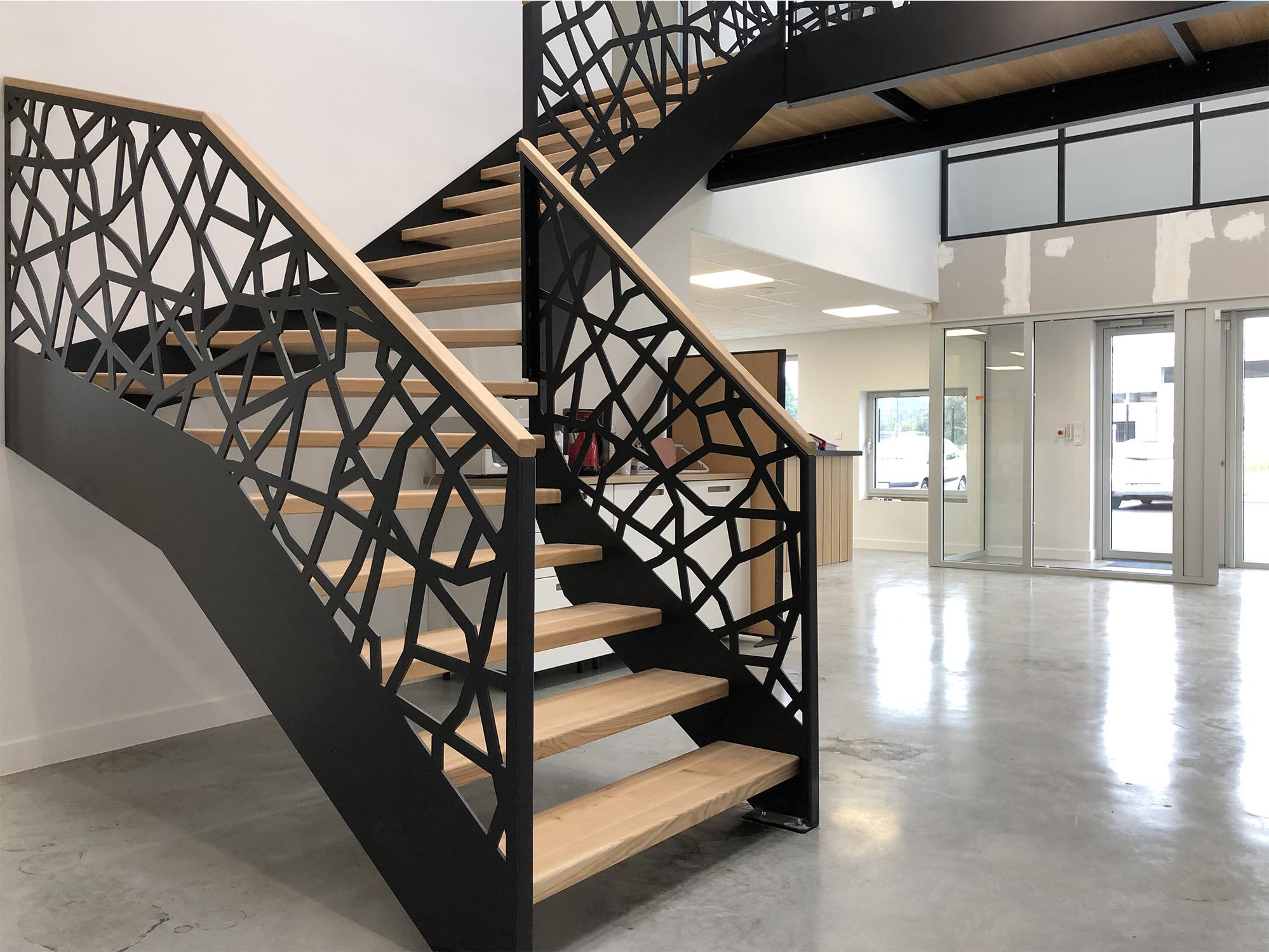 Peinture Pour Escalier Bois escaliers bois métal 29, garde corps guipavas - finistère